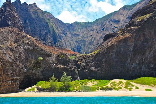 Honopu Valley of the Na Pali Coast