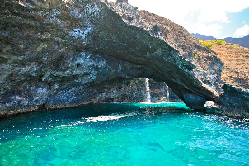 Puakuau Falls Sea Arch