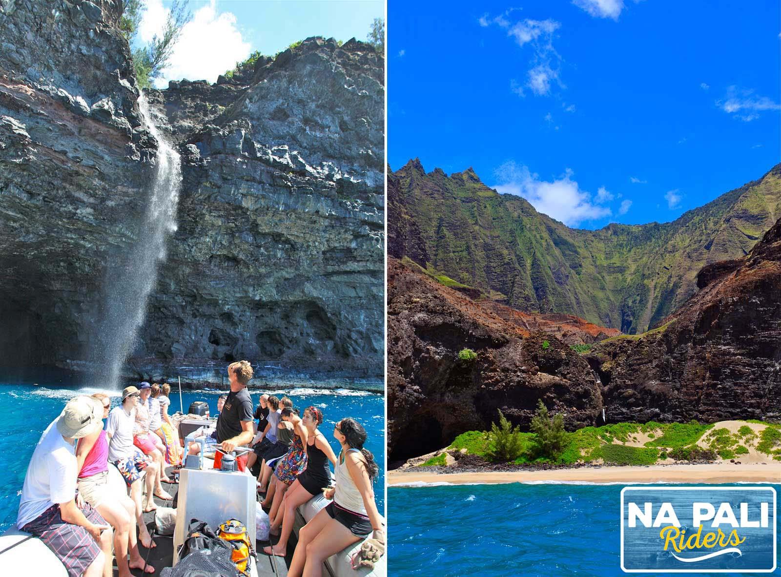 Take a raft tour of Na Pali Coast
