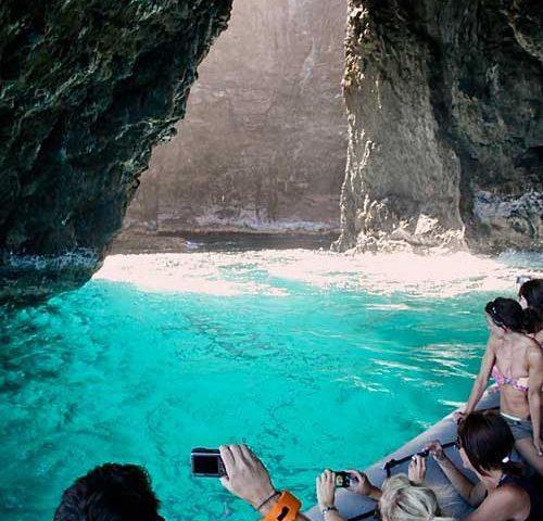 Zodiac Raft Sea Cave Tours